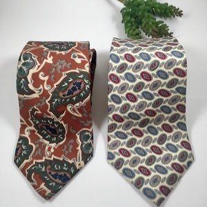 Two Christian Dior Monsieur neckties, vintage silk